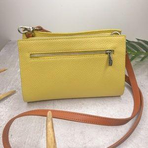 Valentina Chartreuse Cognac Crossbody Leather Bag